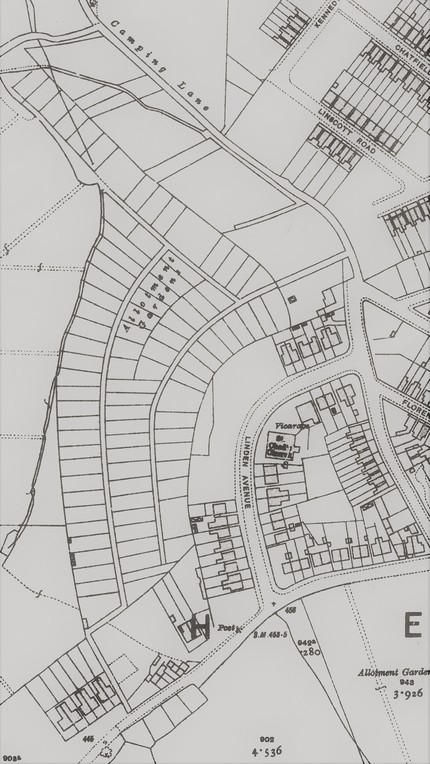 Woodseats Allotments Site Map 1936